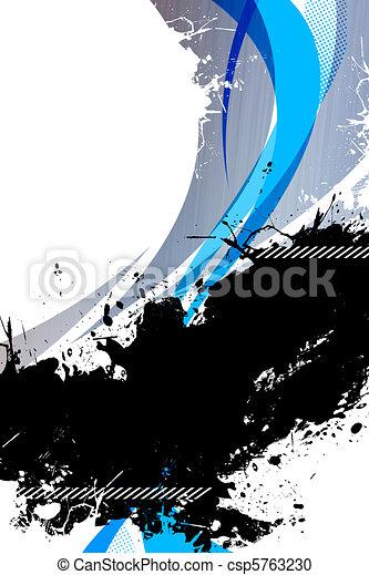 Funky Splattered Background Layout - csp5763230