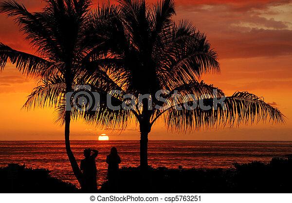 Oahu Sunset - csp5763251