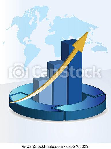 3d Background business graph - csp5763329