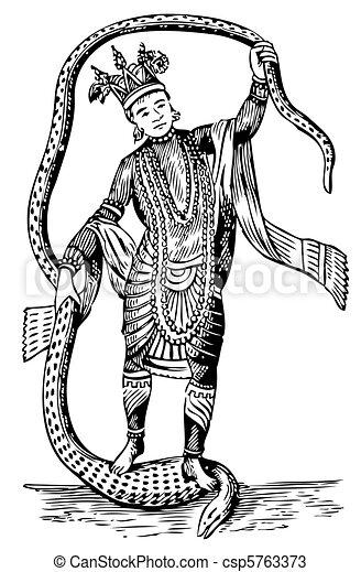 Vishnu in the 8th Avatar - csp5763373