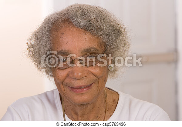 Retired African American Woman - csp5763436