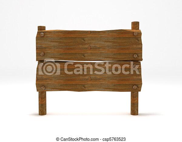 Wood sign - csp5763523