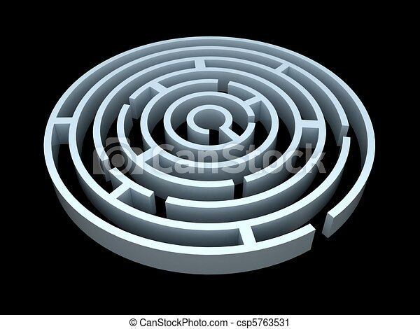 3d Maze Drawing 3d Rendering of a Round Maze