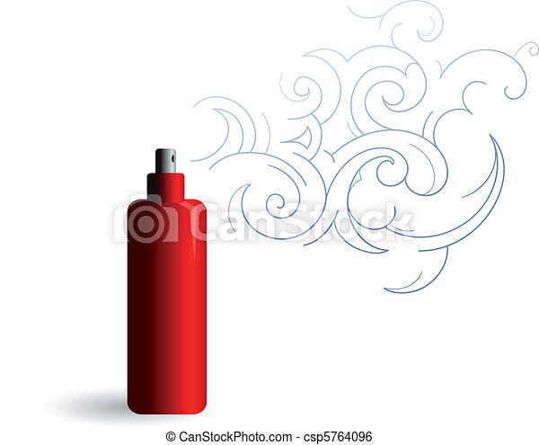 Parfume bottle with foam / steam - csp5764096