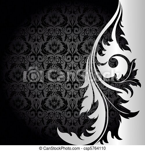 Black and silver background - csp5764110