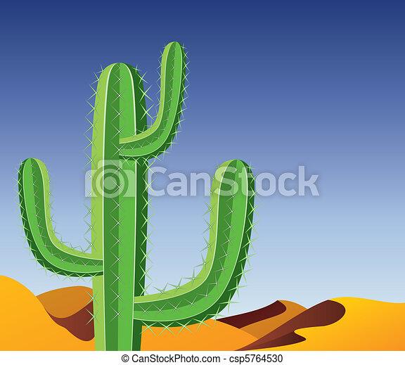 cactus in desert - csp5764530