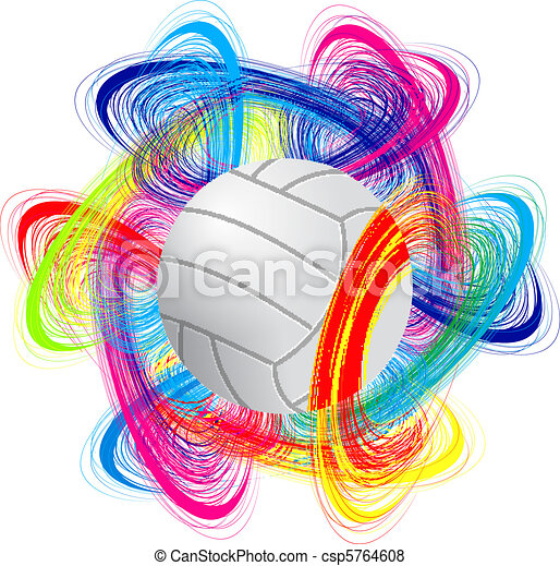 volleyball ball on color background as the concept of an international ...