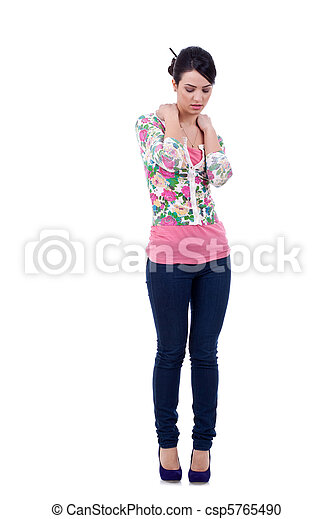 fashion model in casual clothing - csp5765490