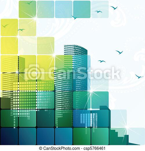 Dynamic cityscape - csp5766461