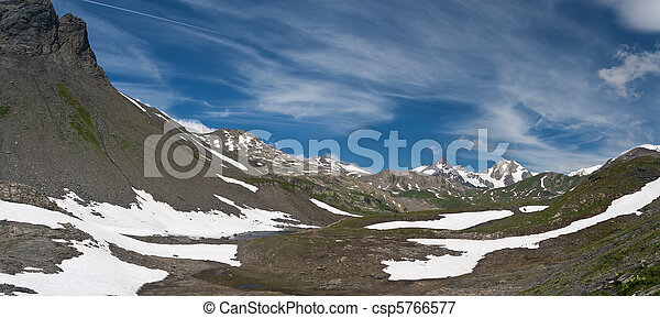 panorama from Pointe Rousse pass - csp5766577