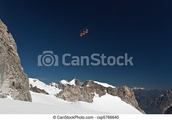 Mont Blanc massif and mer de glace - csp5766640