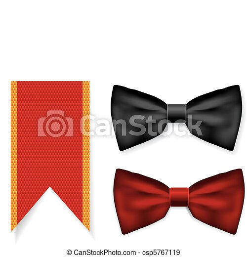 Bow tie and red ribbon - csp5767119