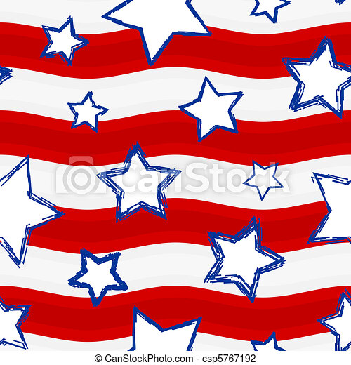 Fourth of July Stars and Stripes Se - csp5767192