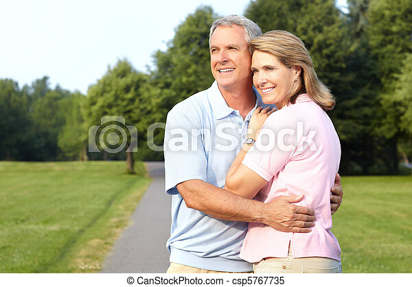elderly senior couple - csp5767735