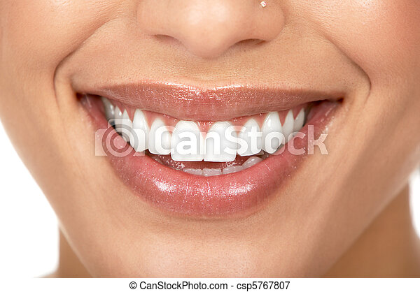 婦女, 牙齒 - csp5767807