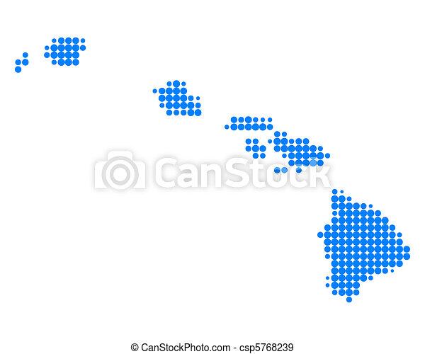 Map of Hawaii - csp5768239