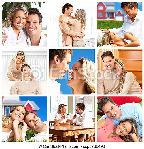 couple in love at home - csp5768490