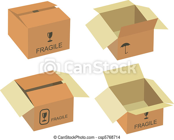 Shipping box vector - csp5768714