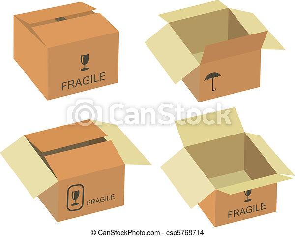 Shipping box vector - csp5768714