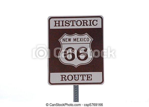 Sign historic route 66 - csp5769166