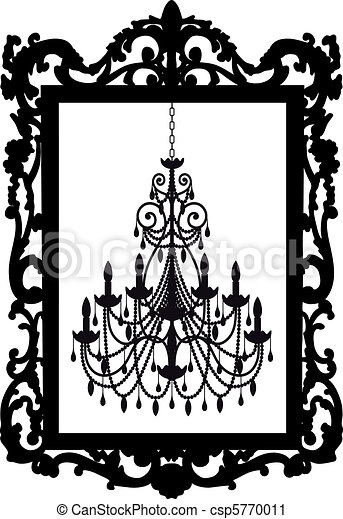 picture frame with chandelier - csp5770011