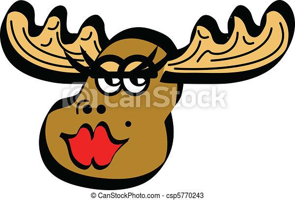 Moose Female Cartoon -...