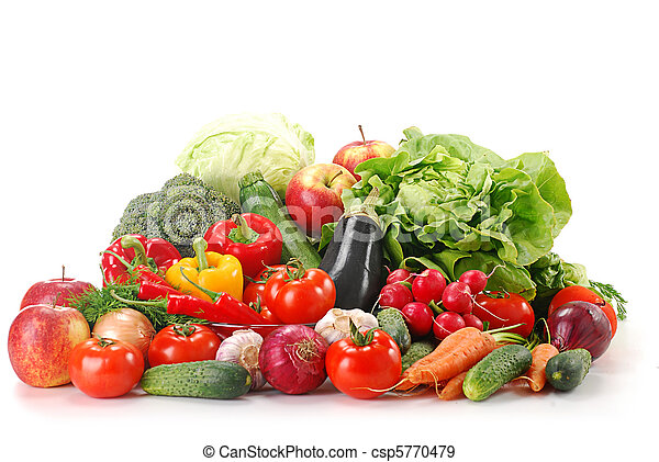 Raw vegetables isolated on white - csp5770479