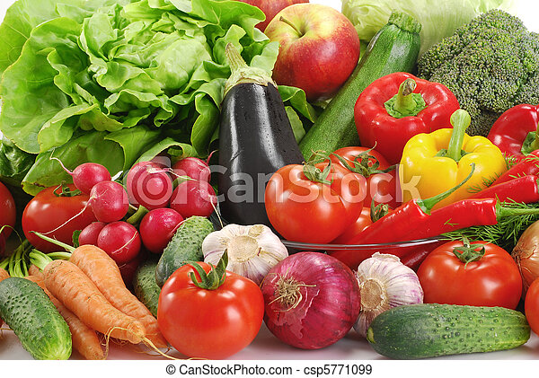 Variety of raw vegetables - csp5771099