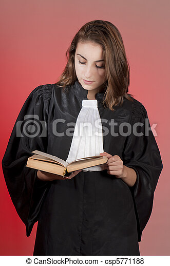 Young law school student - csp5771188