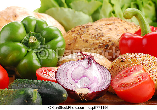 Vegetables and bakery products - csp5771196