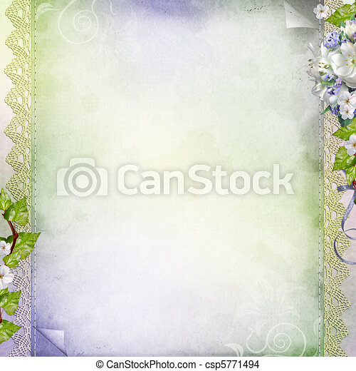 Beautiful anniversary, wedding, holiday background with white flowers  - csp5771494