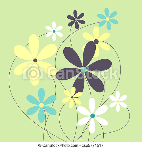 A sweet bunch of growing daisies - csp5771517