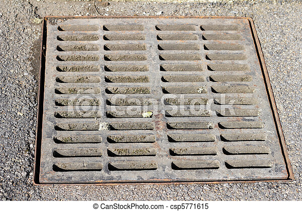 Stock Images Of Drain Grate Sewer Grate That Drains
