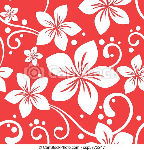 Vectors Illustration of Seamless Hawaiian Christmas Pattern ...