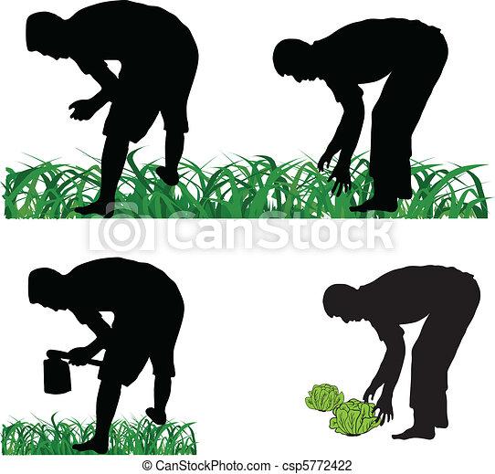 Farmer gardener - csp5772422