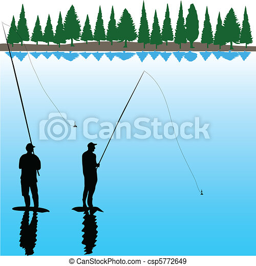 Two River Fisherman - csp5772649