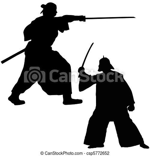 Two Samurai fighter - csp5772652