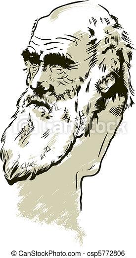 Charles Darwin portrait - csp5772806
