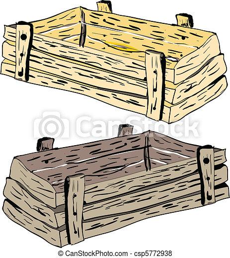 vector cajones de madera
