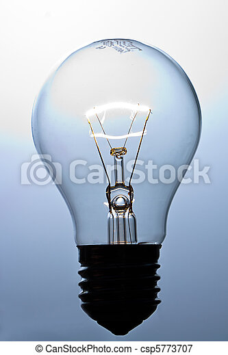 Lit light bulb - csp5773707