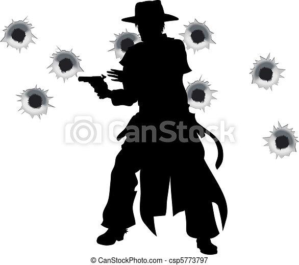 Gun slinger western shoot-out - csp5773797