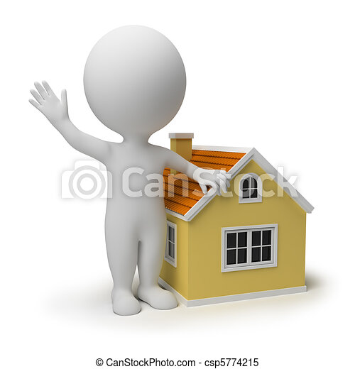 3d small people - home - csp5774215