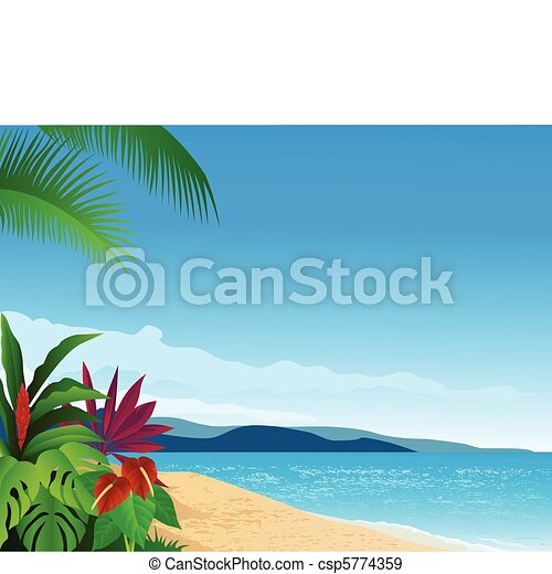 Tropical beach - csp5774359