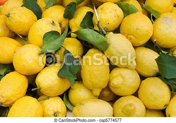 organic lemons - csp5774577