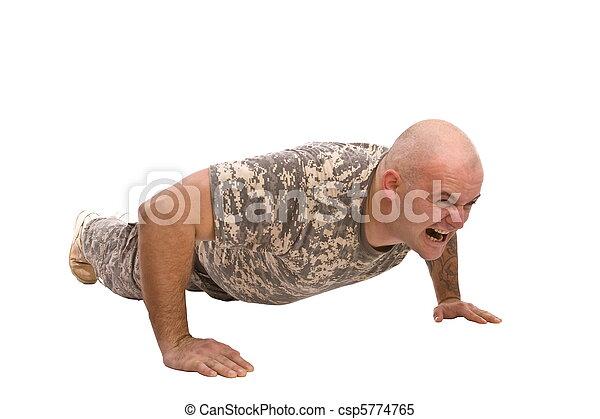 military man exercise - csp5774765