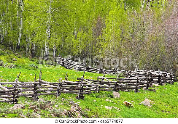 image de barri re rustique bois barri re enroulement par csp5774877 recherchez des. Black Bedroom Furniture Sets. Home Design Ideas