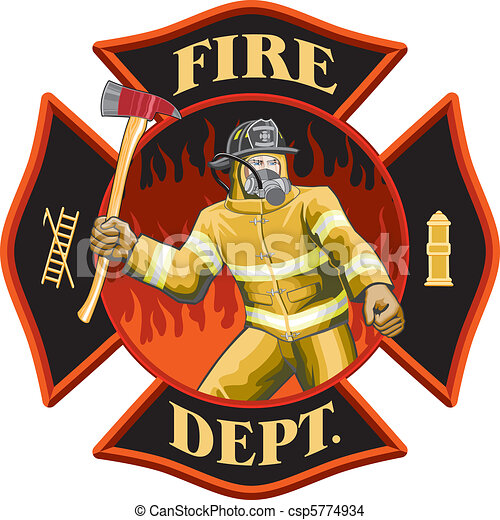 Firefighter Inside Cross Symbol - csp5774934