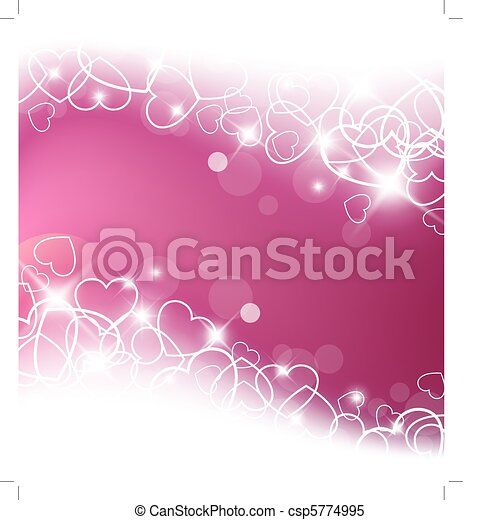 Love vector background made from white hearts - csp5774995