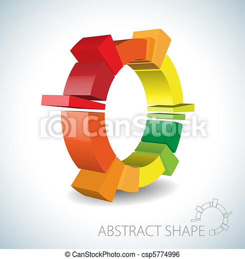 Colorful abstract 3D shape - csp5774996
