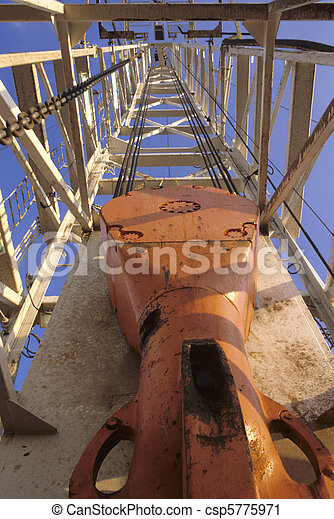 Up the Derrick View - csp5775971